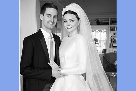 Миранда показа снимки от приказната си сватба