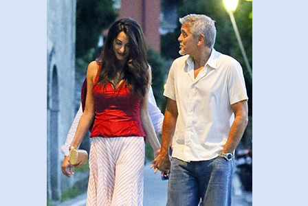 Джордж и Амал се отдадоха на романтика в Италия