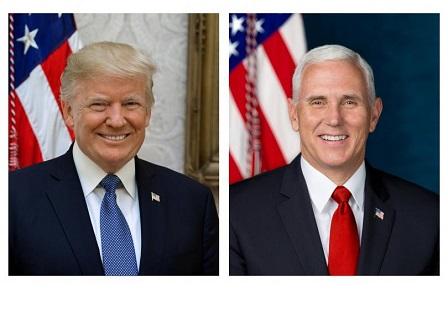 Белият дом разпространи официалните портрети на президента и вицепрезидента