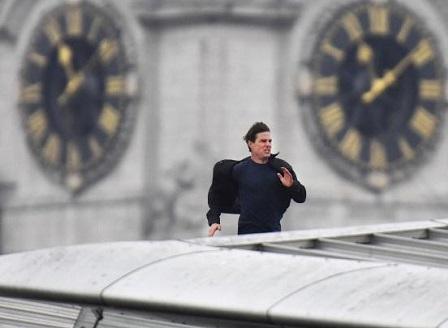 Том Круз блокира част от Лондон, докато снима нов филм