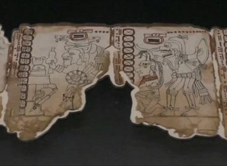В Мексико показаха древен пиктографски текст на маите