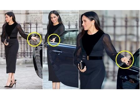 Забраниха на херцогиня Меган сама да затваря вратата на колата, с която пътува