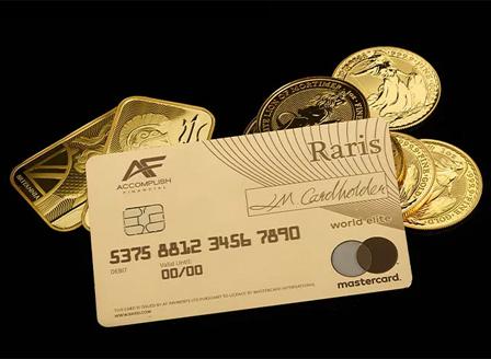 Великобритания пуска дебитни карти от чисто злато
