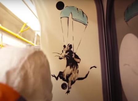 Премахнаха анти-Covid графити на Банкси в Лондонското метро